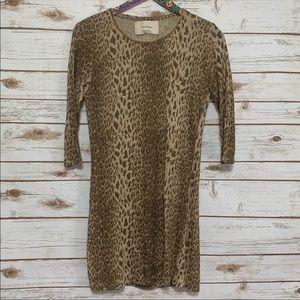 Zara cracked leather raw hem neckline shirt dress